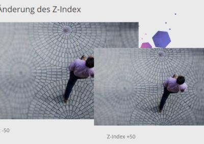 Darstellung der Divi-Funktion Position - Standard mit 2 Bildern eines Mannes, der läuft