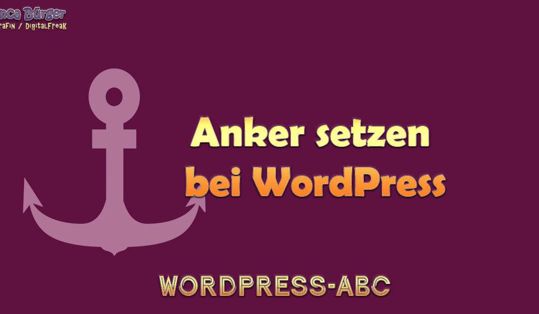 Anker bei WordPress